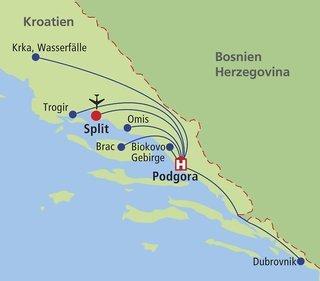 Pauschalreise Hotel Kroatien, Kroatien - weitere Angebote, Kroatien in DALMATIEN  ab Flughafen Düsseldorf