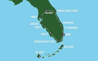 """Pauschalreise Hotel USA, Florida - Rund & Erlebnisreisen, Busrundreise """"Florida Sunshine"""" in   ab Flughafen Amsterdam"""