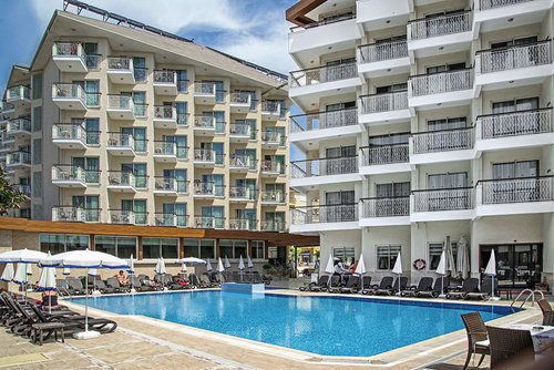 Ort Alanya Lage & Umgebung Zentral, nur ca. 50 m vom Strand entfernt gelegen. Die Strandpromenade führt am Hotel vorbei, das Stadtzentrum Alanyas ...